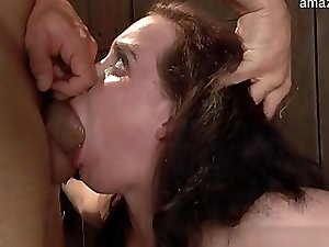 Young amateur cum on hairy pussy