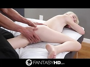 Tommy Gunn massages and caresses young blonde