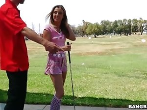 Karla Kush Sucks Dick While Playing Golf