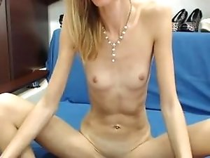 Skinny Teen with Small tits Spreads her Ass on Webcam - sexcamzvideos com